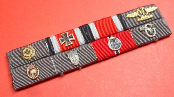 8-fach Bandspange Deutsches Kreuz in Gold Luftwaffe